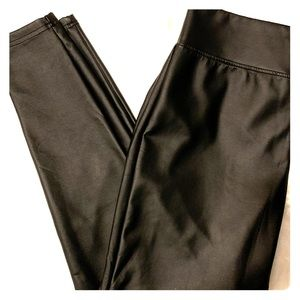Faux Leather Sexy Straight Leg Pants